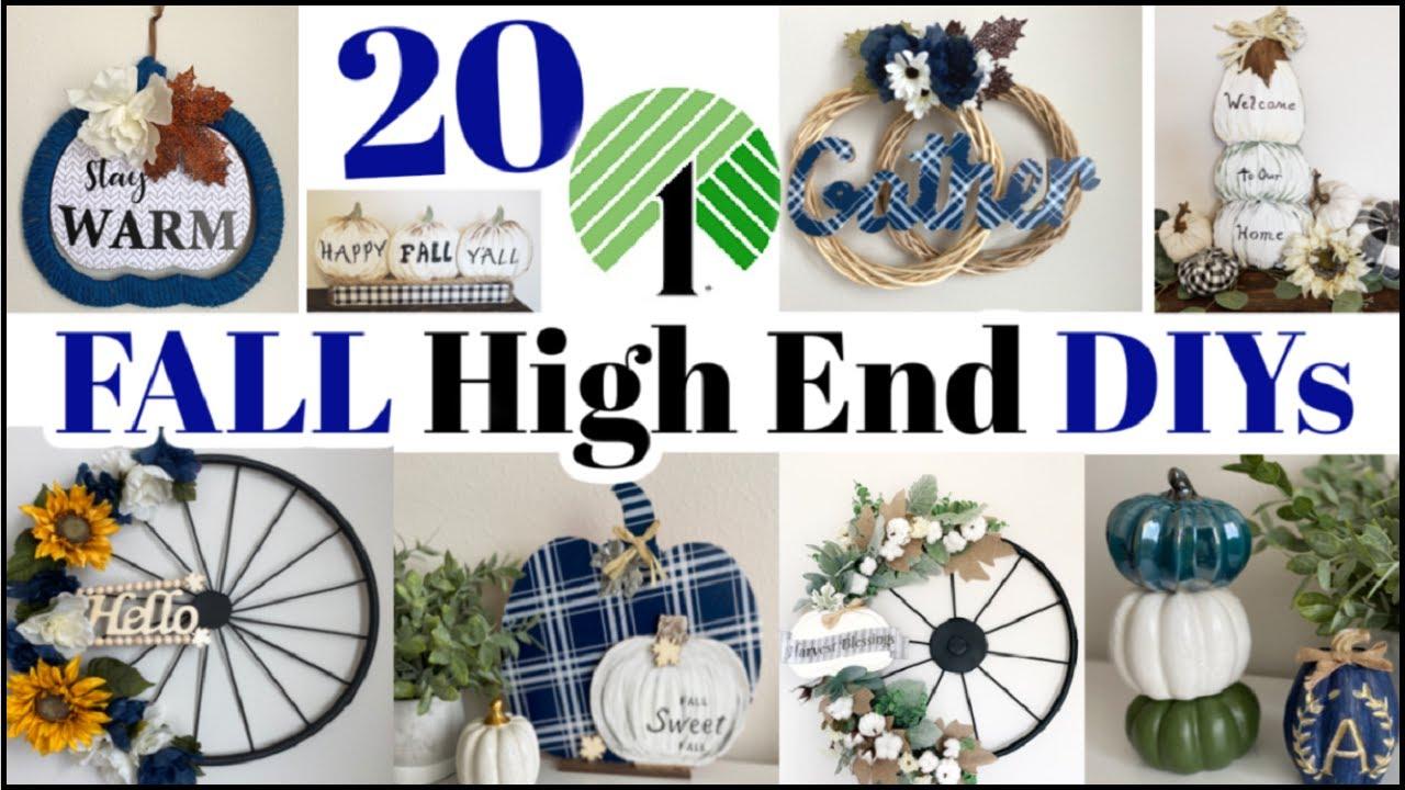 20 High End Dollar Tree DIYs - FALL Dollar Tree DIY Home Decor Dupes