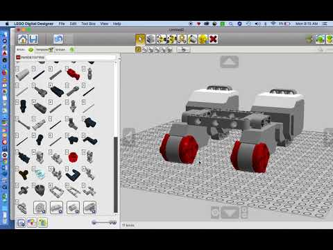 Lego Digital Designer And Simple Robot Build Pt 1
