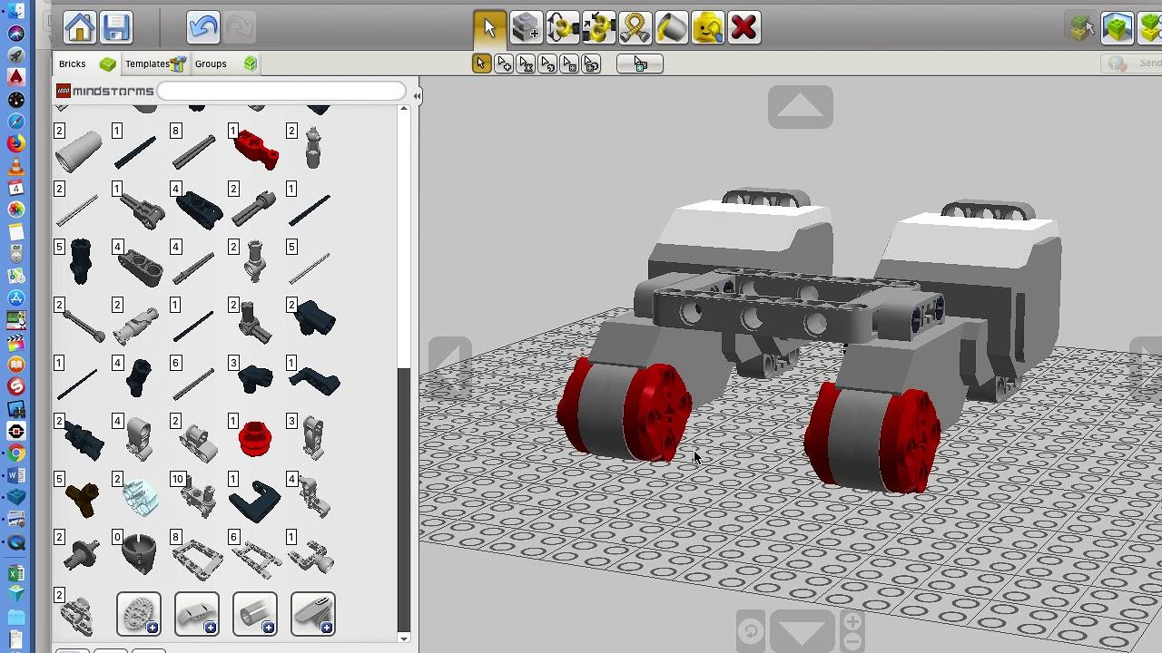 Lego Digital Designer And Simple Robot Build Pt 1 Youtube