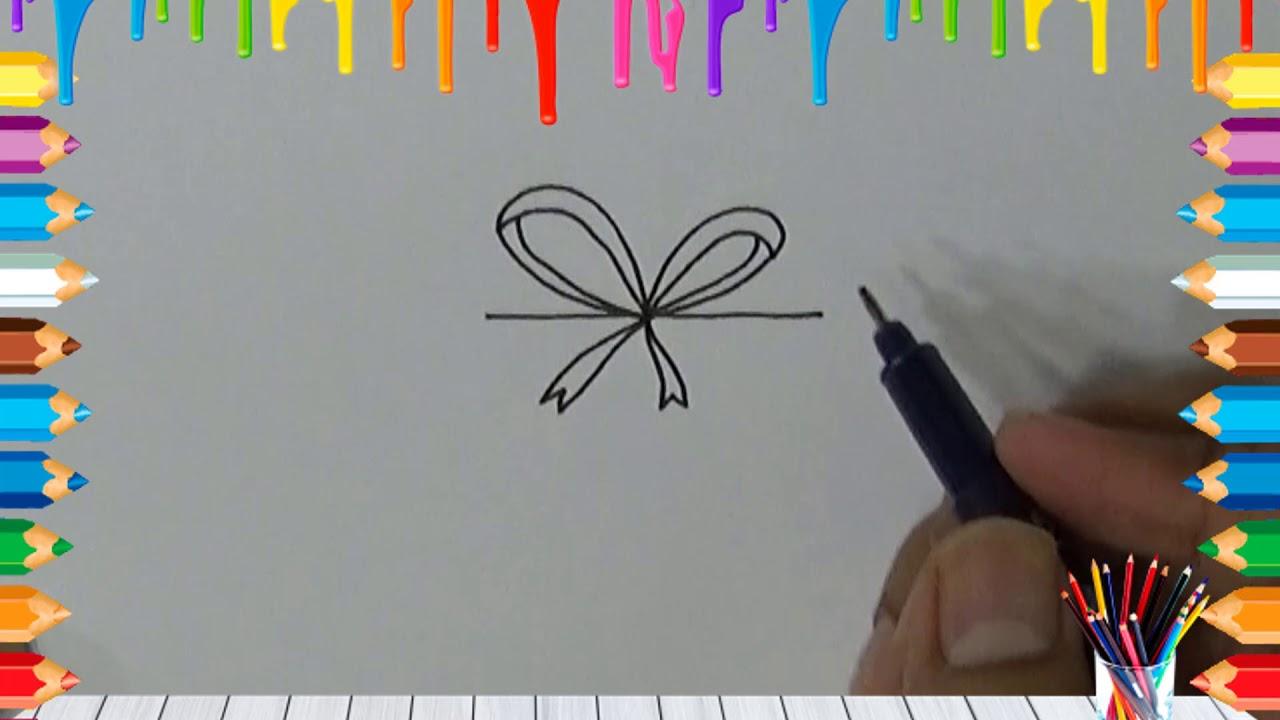 Belajar Cara Menggambar Kotak Hadiah Dengan Mudah Youtube