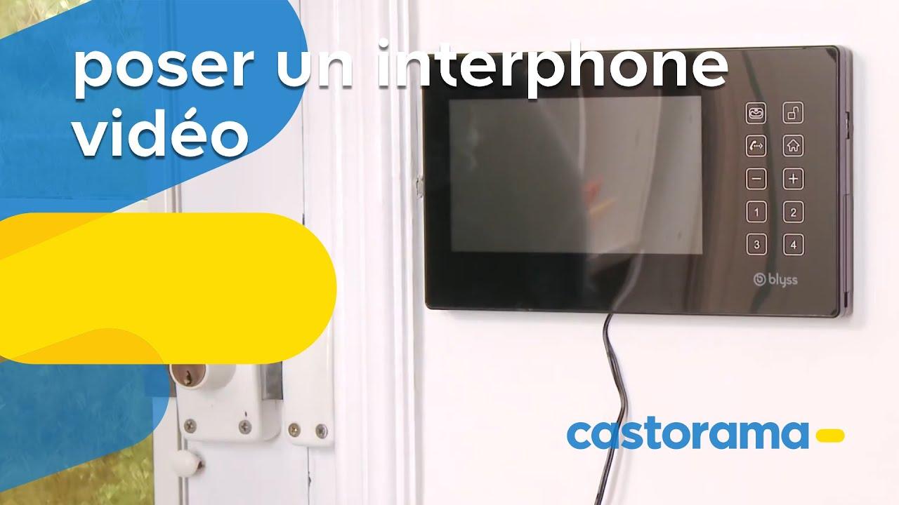 Poser Un Interphone Vidéo Filaire Avec Gâche électrique Castorama - Porte placard coulissante avec serrure electrique