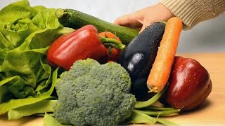 Different Colored Vegetables On Display  Stock Video