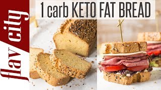 The Best Keto Fat Bread Recipe - Low Carb Bread For Sandwiches & More