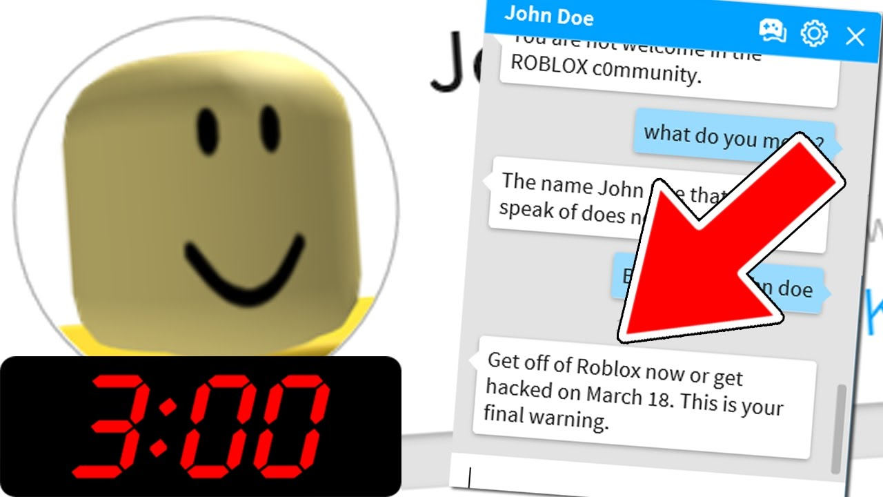 what is john doe's password on roblox