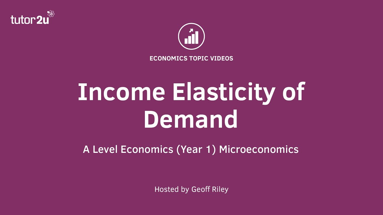 Explaining Income Elasticity Of Demand Economics Tutor2u