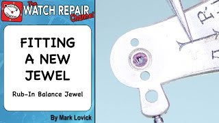 Watch repair Rub In Jewel Settings. Fitting new jewel. Tutorial. Lesson