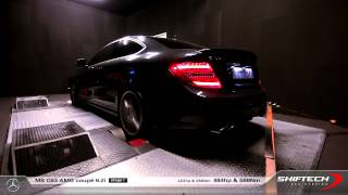 Reprogrammation moteur - Mercedes C63 AMG Coupé - 423hp @ 484hp - Real sound on dyno