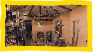 Дом из самана. Самодельная краска. Полки из веток и Штакета. Реконструкция Ракетной печи