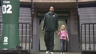 Michigan State University College Basketball Star Befriends Young Cancer Patient