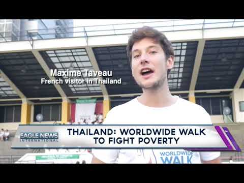 Various nationalities join INC members in Thailand site of Worldwide Walk to Fight Poverty
