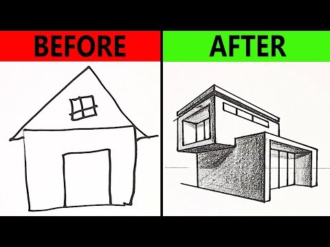 10 Easy Drawing Tricks For Kids - Car, House Drawing