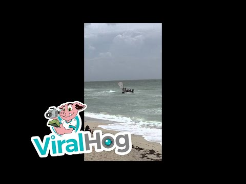 Cuban Immigrants Arriving At Miami Beach || ViralHog