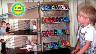 Гараж для машинок Hot Wheels. ХОТ ВИЛС гараж своими руками - парковка для всей коллекции машинок.