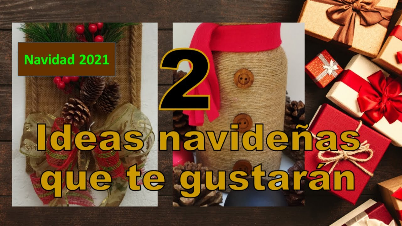 2 IDEAS NAVIDEÑAS CON RECICLAJE 2021 // Christmas crafts with recycling // Artesanato de Natal