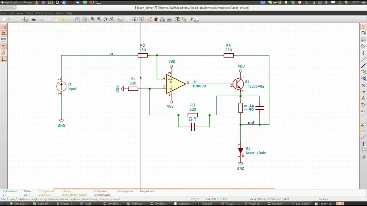 Kicad Spice Simulator Youtube Chargingcurrentlimiter Analogcircuit Basiccircuit Circuit