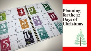 Plan With Me | Schedule for 12 Days of Christmas | Happy Planner