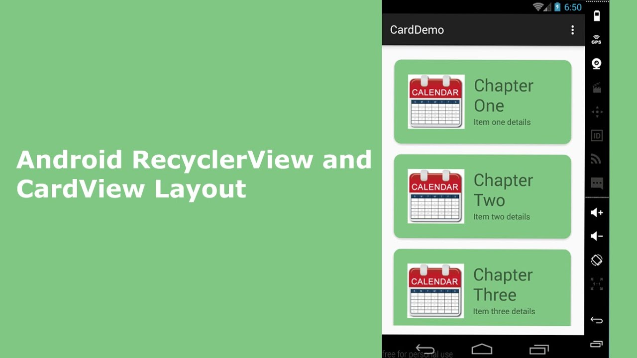 Android RecyclerView and CardView Layout