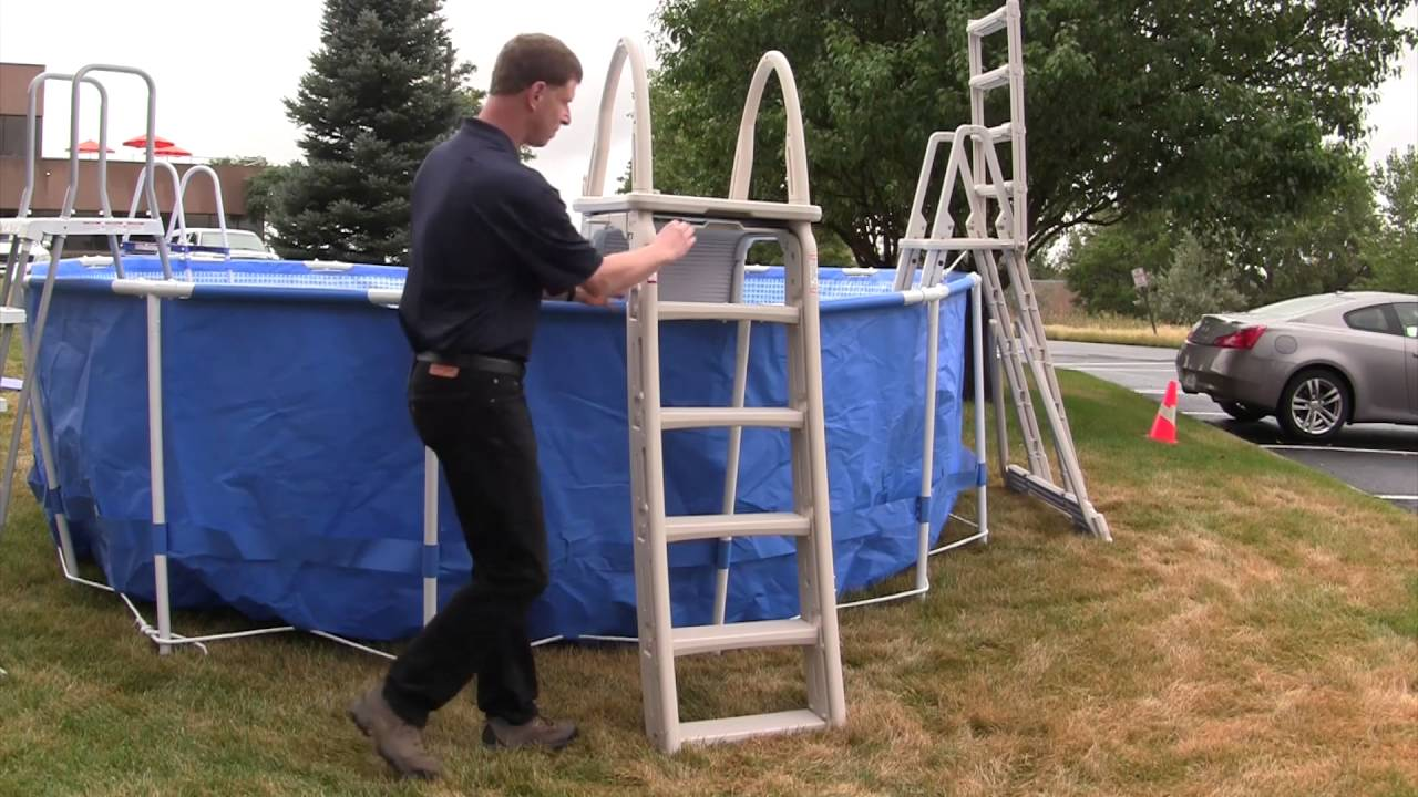 above ground pool ladder safety - Above Ground Pool Ladder