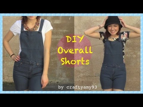 DIY Overall Jean Shorts + How I Style Overalls - YouTube