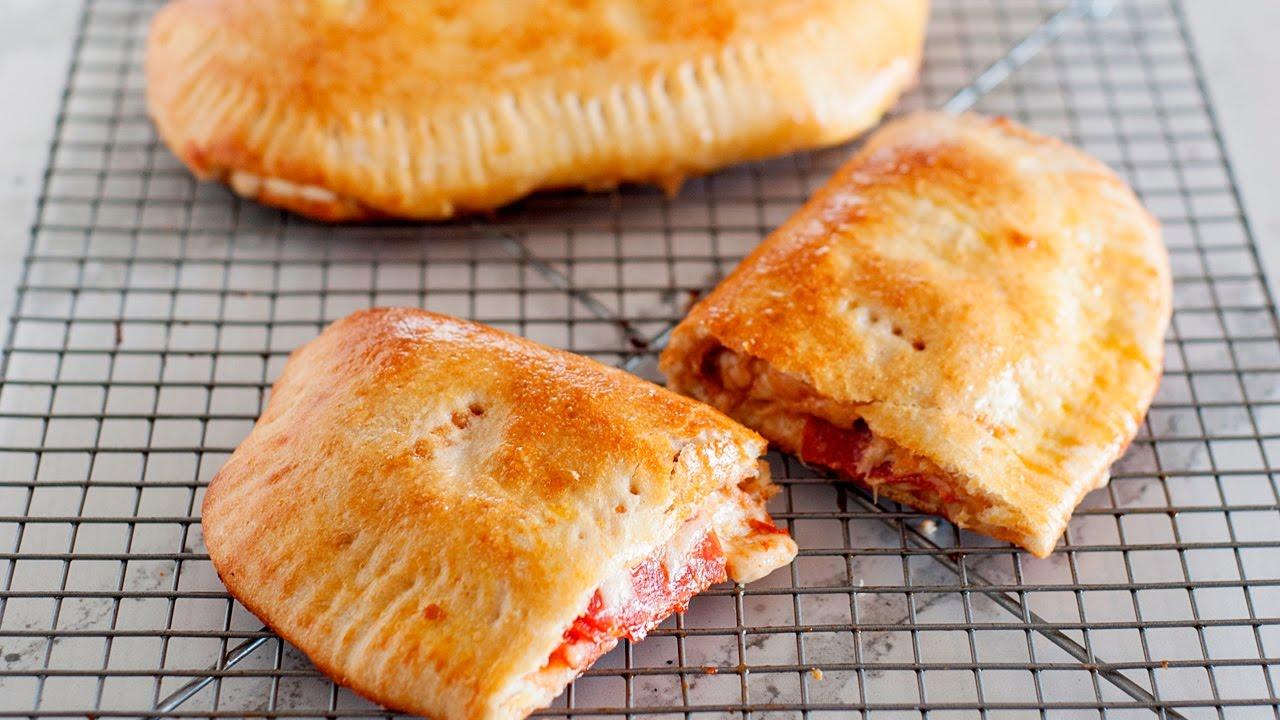 Easy Pizza Pockets | Homemade Calzones