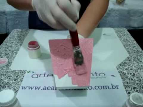 Video Aula A&E Artesanato T?cnica Craquelado em MDF - YouTube
