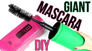 DIY Crafts: How To Make A Giant Mascara Tube & Brush -DIYs Storage Idea or Gift Box-Cool DIY Project