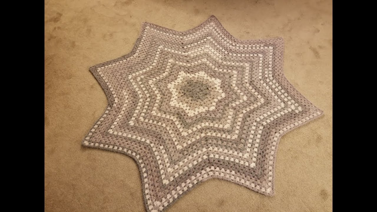 The Granny Star Blanket Crochet Tutorial Youtube