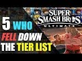 5 Characters Who FELL Down The TIER LIST   Super Smash Bros. Ultimate