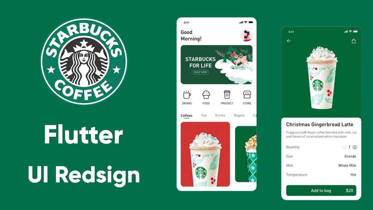 Flutter Starbucks app UI Redesign | Speed Code