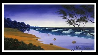 Acrylic Seascape Painting Timelapse by Yoni Shor