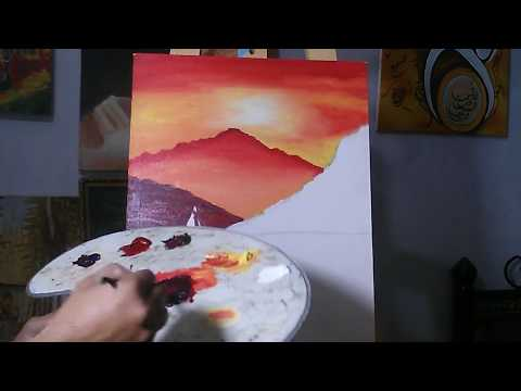 How to Oil Paint, FREE Oil Painting lesson with wajdan artist, part 3