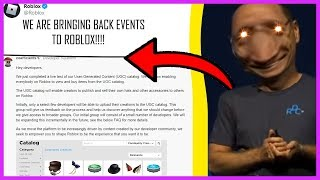 ROBLOX IS BRINGING BACK EVENTS (WITH PROOF)