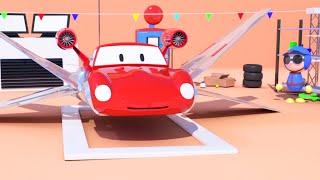 2대의 스타워즈 우주선 & 레이싱카 스피드 디즈니 카 맥퀸과 같은 아이들을 위한 만화 영화