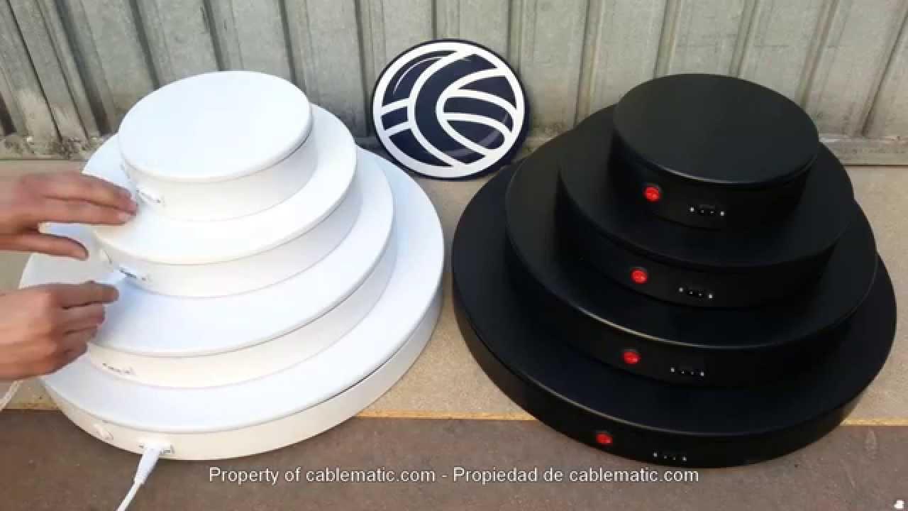 Base rotatoria eléctrica distribuida por CABLEMATIC ...