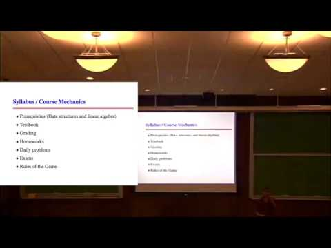 Lecture 1 - Introduction to Algorithms
