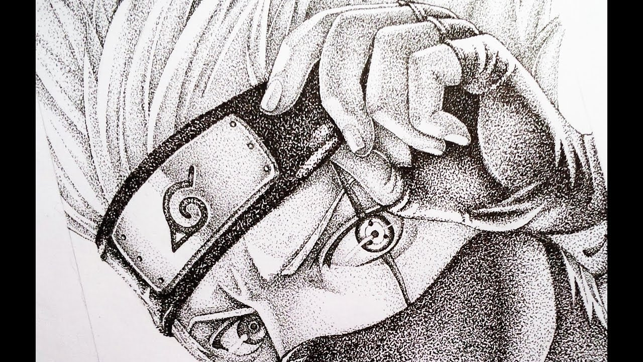 Most Detailed Art Kakashi Drawing Naruto