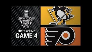NHL 18 PS4. 2018 STANLEY CUP PLAYOFFS FIRST ROUND GAME 4 EAST: PENGUINS VS FLYERS.04.18.2018.(NBCSN)