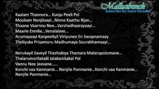 Konji Vaa kanmani - Karaoke with Lyrics - Fukri malayalam movie
