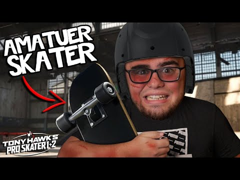 Becoming a SKATEBOARDER but it's HORRIBLE!   Tony Hawk's Pro Skater 1 + 2  