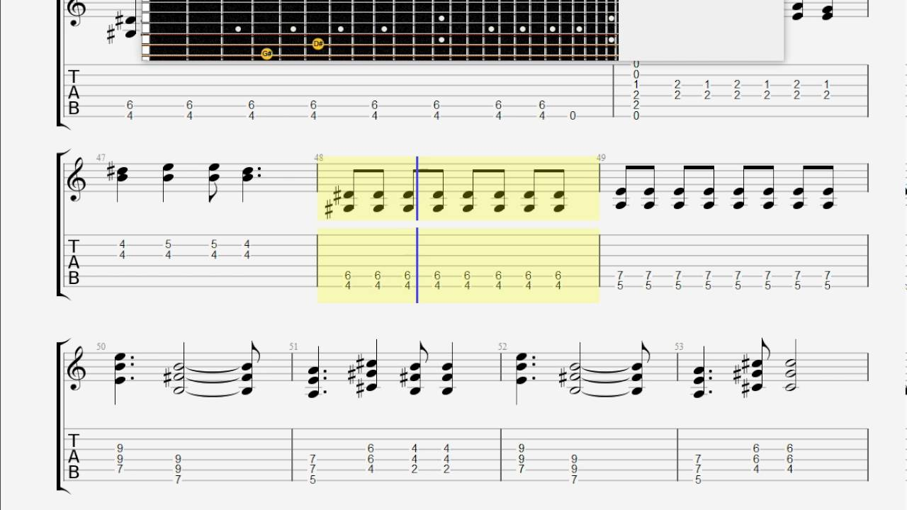 Cars, The Just What I Needed GUITAR 2 TAB - YouTube