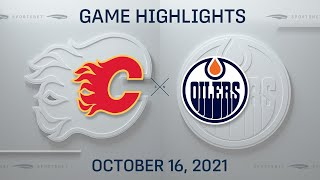 NHL Highlights   Flames vs. Oilers - Oct. 16, 2021