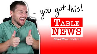 Table News Strikes Prizes Boosters and Lava