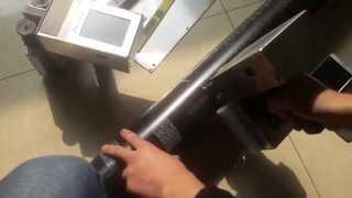 CYCJET ALT360 White Barcode Printing on metal pipe_handheld inkjet printer_Industrial inkjet printer Thumbnail