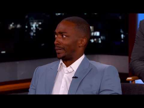 Anthony Mackie making everyone die from laughter for 7 minutes