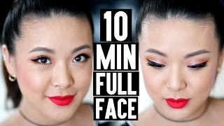 TUTORIAL | 10 Min FULL COVERAGE Date Night Makeup!