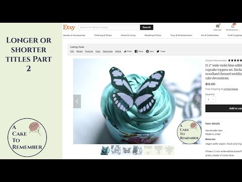 Should you use long or short titles on Etsy? Part 2, how to do titles for Etsy SEO