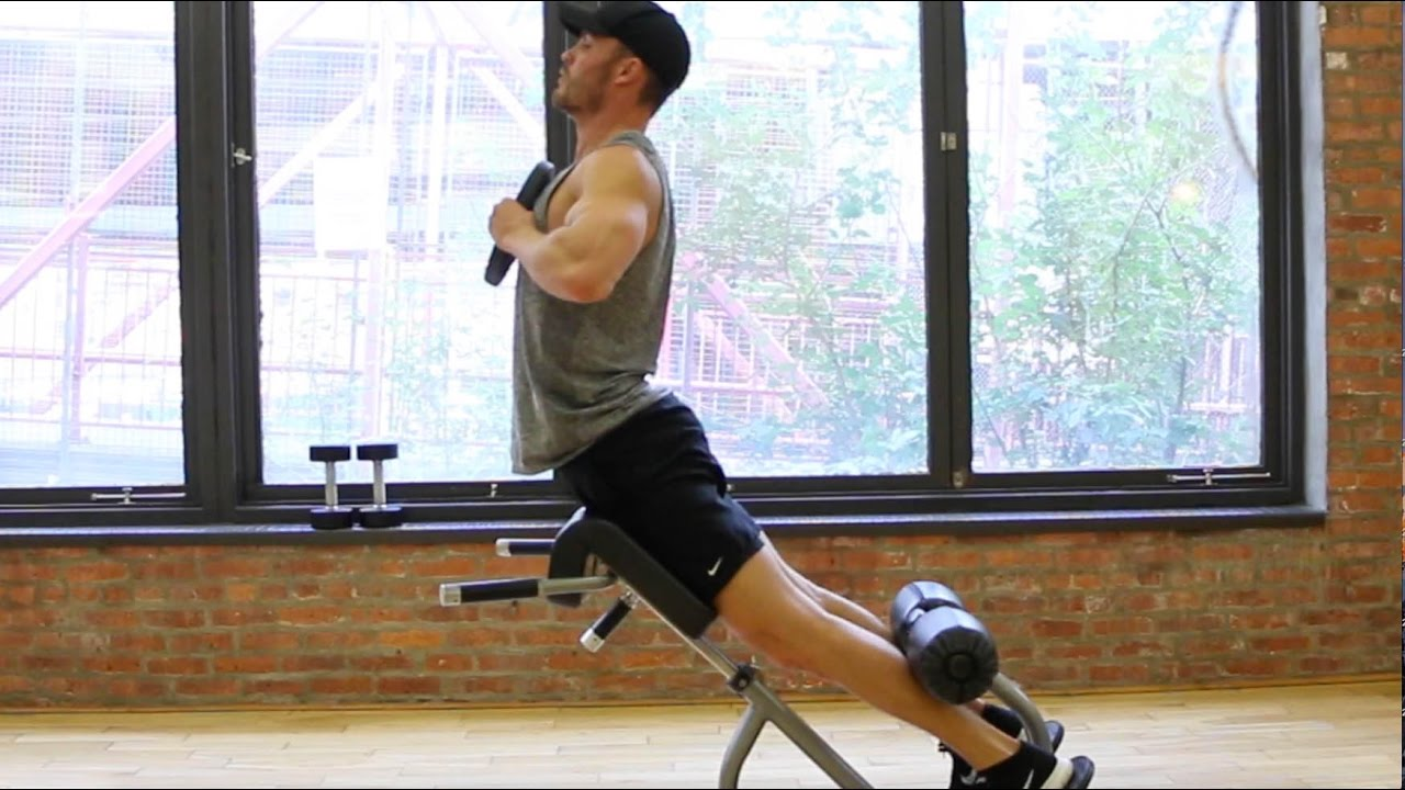roman chair back extension muscles wunda accessories weighted youtube