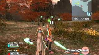 Phantasy Star Universe: Ambition of the Illuminus random gameplay
