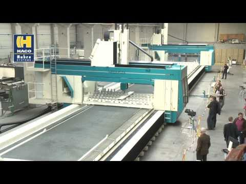 A 43-meters-long 5-axis Double Head Machining Center for SAPA Extrusions