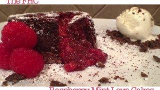 Raspberry Mint Lava Cakes